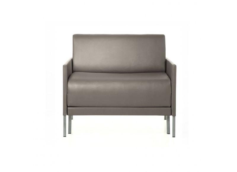 fauteuil convertible club 84 cuir 1 place petit et l ger. Black Bedroom Furniture Sets. Home Design Ideas