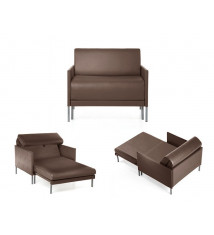 Fauteuil modulable Club 84 MANDINKA DARK BROWN
