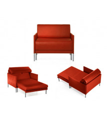 Fauteuil convertible lit 84 Club Orange