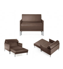 Fauteuil convertible lit 84 Club Taupe