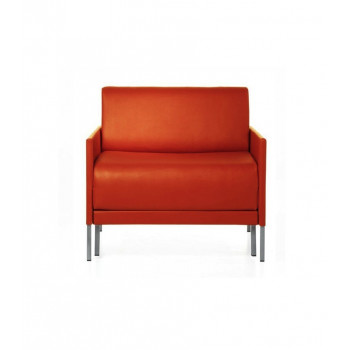 Fauteuil lit convertible 74 CLUB tissu classé au feu naranja