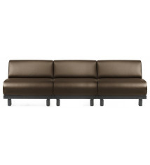 Canapé convertible 3 Places PADDOCK LOUNGE 240 MANDINKA DARK BROWN