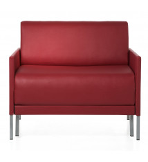 Fauteuil cuir design convertible 84 Club ROUGE