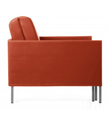 Fauteuil cuir design convertible 84 Club ORANGE