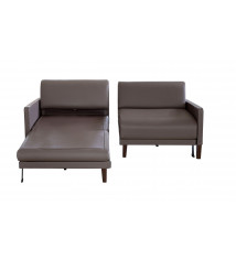 CANAPE CONVERTIBLE 170 CUIR DUO VOGUE TAUPE