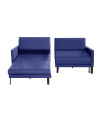 CANAPE CONVERTIBLE 170 CUIR DUO VOGUE BLEU