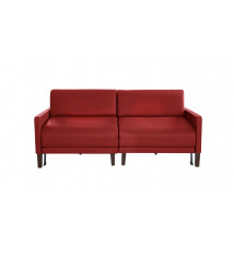 CANAPE CONVERTIBLE 170 CUIR DUO VOGUE ROUGE
