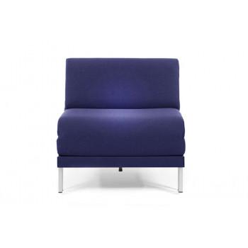 Fauteuil convertible lit Likoolis 1 Place BOSS 70 cm SMALL sans accoudoirs tissu bleu