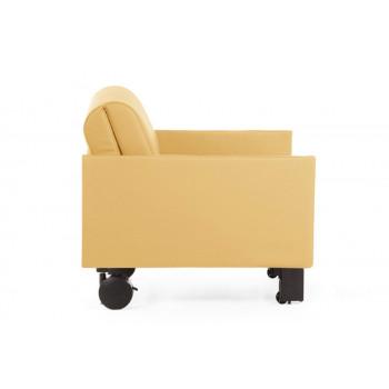 Fauteuil convertible lit Likoolis accompagnant, classé au feu M2, ROLLER 70 SMALL sans accoudoirs - banane
