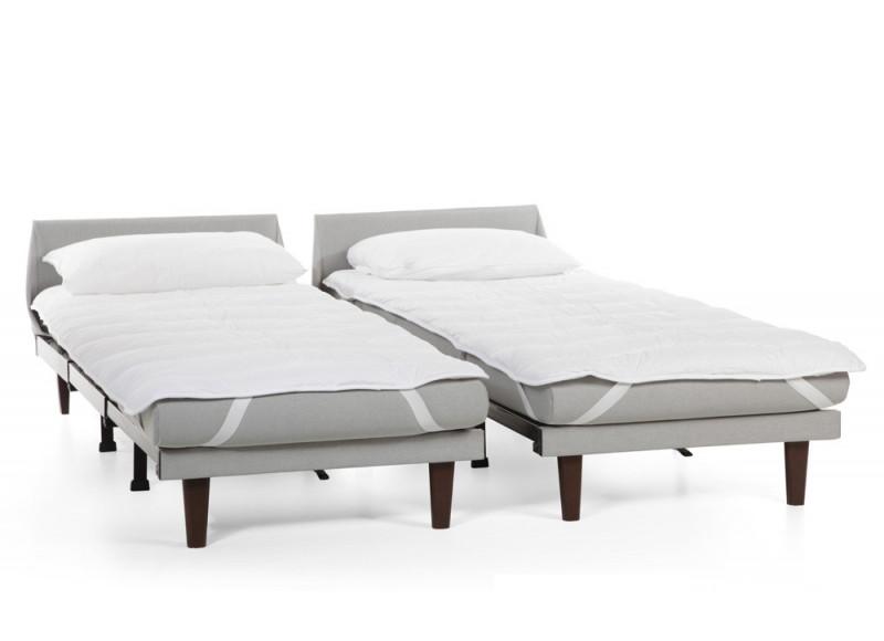SURMATELAS adapté aux couchages en 70 et 80 cm des fauteuils lits et canapés lits Likoolis