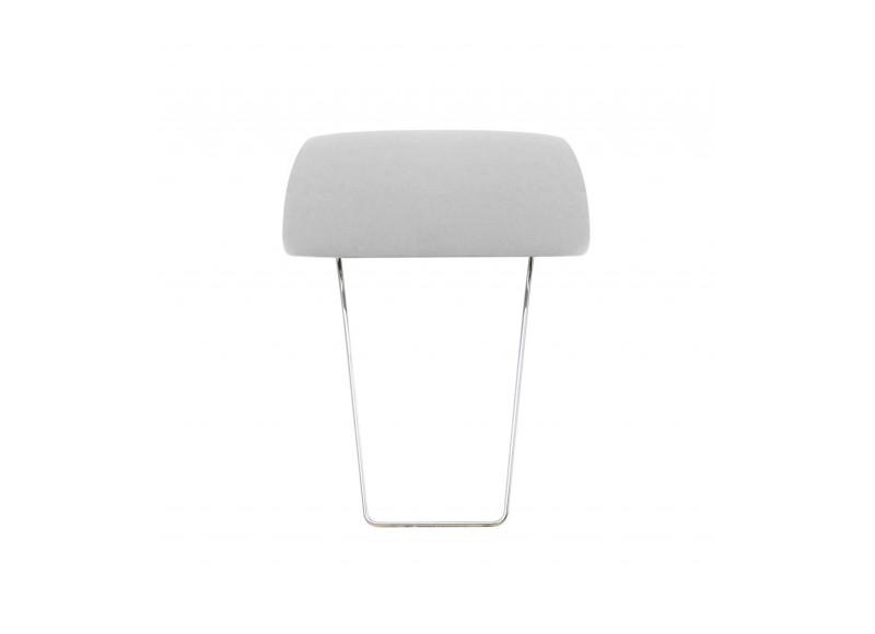 Têtière amovible pour fauteuil lit et canapé convertible Likoolis - tissu gris clair