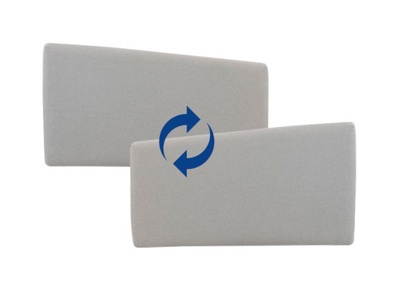 Accoudoirs LARGES amovibles pour fauteuil et canapé convertible Likoolis - tissu light grey