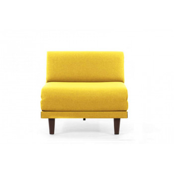 Fauteuil convertible lit Likoolis 1 Place PACHA 80 cm SMALL sans accoudoirs tissu YELLOW