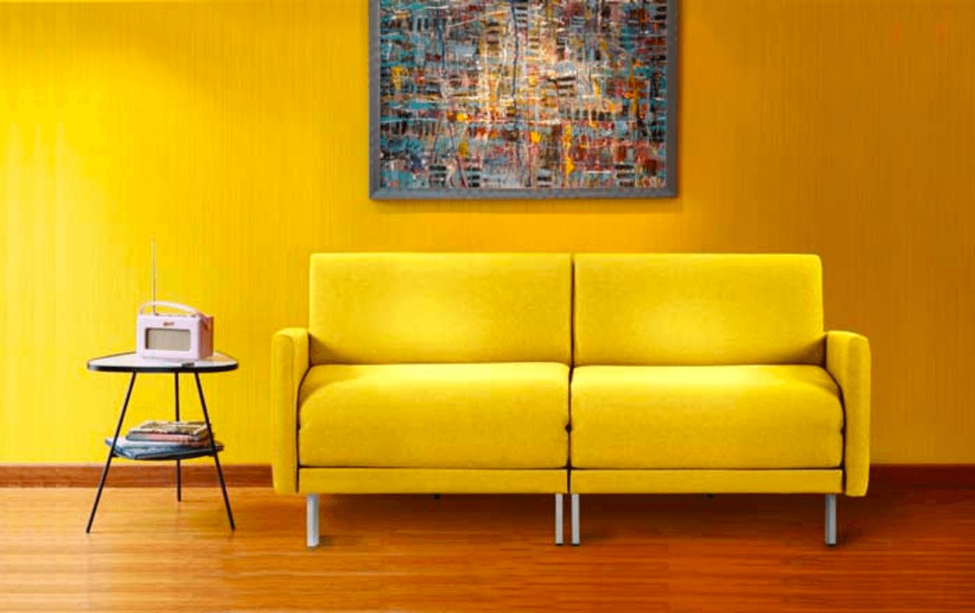 canapé convertible likoolis jaune